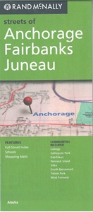Picture of Anchorage, Fairbanks, Juneau, AK street map