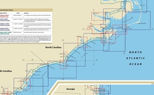 Picture of Click Here For an Easy To Read Georgetown, SC To Cape Hatteras, NC Nautical Chart Index