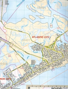 Picture of Atlantic County, NJ street map