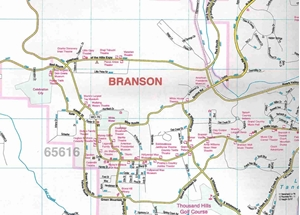 Picture of Branson, MO street map