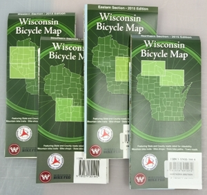 Picture of Wisconsin Bicycle (Biking) Map: Wisconsin Bicycle Map: Set of Four - 2015 Edition