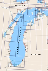 Picture of Click Here For an Easy To Read Lake Michigan Nautical Chart Index