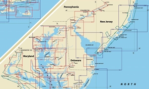 Picture of Click Here For an Easy To Read Chesapeake Bay, Delaware Bay And New Jersey Shore Nautical Chart Index