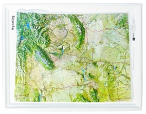 TheMapStore  Wyoming Raised Relief Map