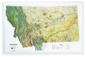 Picture of Montana Raised Relief Map