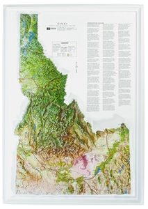 Picture of Idaho Raised Relief Map