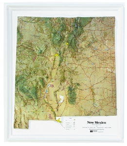Picture of New Mexico Raised Relief Map