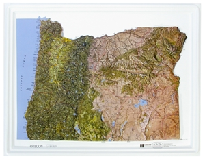 Picture of Oregon Raised Relief Map