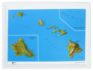 Picture of Hawaii Raised Relief Map