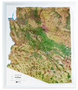 Picture of Arizona Raised Relief Map