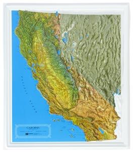 Picture of California Raised Relief Map