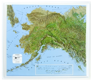 Picture of Alaska Raised Relief Map