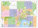 """Picture of Appleton & Fox Cities Wall Map - Size 45"""" x 34"""""""
