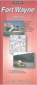 Picture of Fort Wayne, Indiana Folded City Street Map