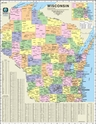 "Picture of Wisconsin County & Town Marketing Map - Full Color - Size 36"" x 48"""