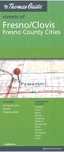 Picture of Fresno, Clovis & Fresno County Cities, California street map