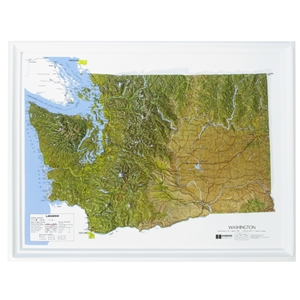 TheMapStore Washington Raised Relief Map