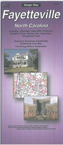 Picture of Fayetteville, North Carolina Folded Street Map