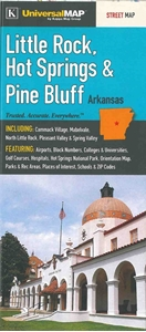 Picture of Little Rock, Hot Springs, Pine Bluff, Arkansas Folded Street Map