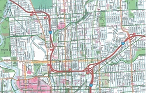 Picture of Indianapolis, IN street map