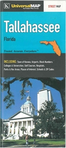 Picture of Tallahassee, Florida Folded Street Map
