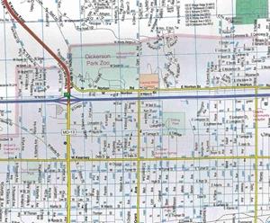 TheMapStore Springfield Joplin MO Street Map - Springfield mo map
