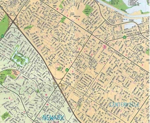 picture of fremont hayward california local street detail map