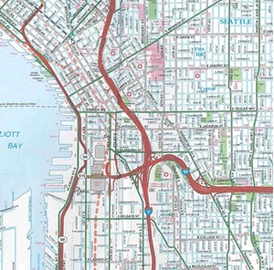 Picture of Seattle, WA street map