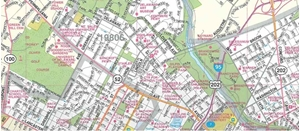 Picture of Wilmington, Delaware Folded Street Map