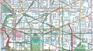 Picture of Washington, DC street map