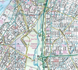Picture of Bronx, NY street map