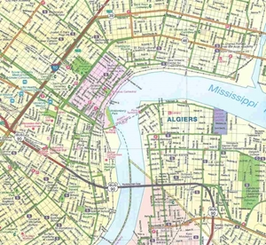 Picture of New Orleans, LA street map