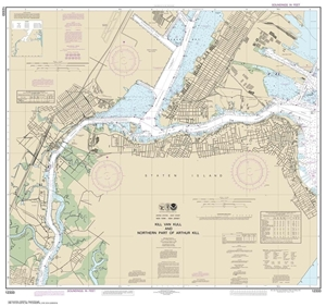 Picture of 12333 - Kill Van Kull and Northern Part of Arthur Kill Nautical Chart
