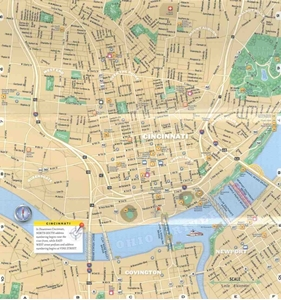 Picture of Cincinnati City Streets Laminated map