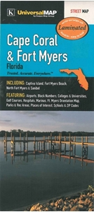 Picture of Cape Coral & Fort Myers Laminated street map