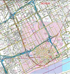 TheMapStore | Detroit, MI Laminated street map