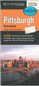 Picture of Pittsburgh Laminated Regional Highway Map