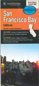 Picture of San Francisco Bay Laminated Regional Highway Map