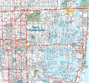 Picture of Fort Lauderdale Folded EasyFinder Map