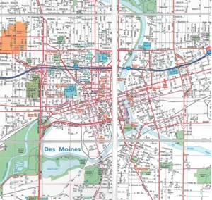 Picture of Des Moines, & Ames, IA Folded EasyFinder Map