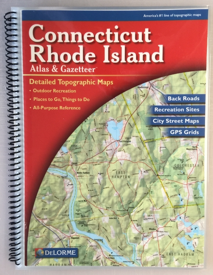 TheMapStore  DeLorme Connecticut And Rhode Island Atlas