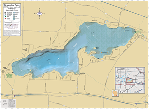 Picture of Pewaukee Lake Wall Map