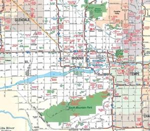 Picture of Greater Phoenix, AZ Regional E.Z. Fold Map