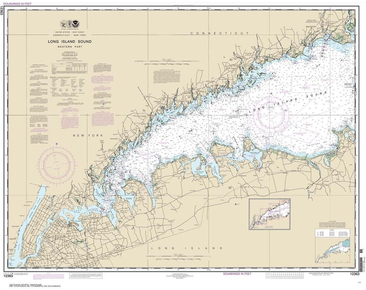 Long Island Sound Chart With Hudson