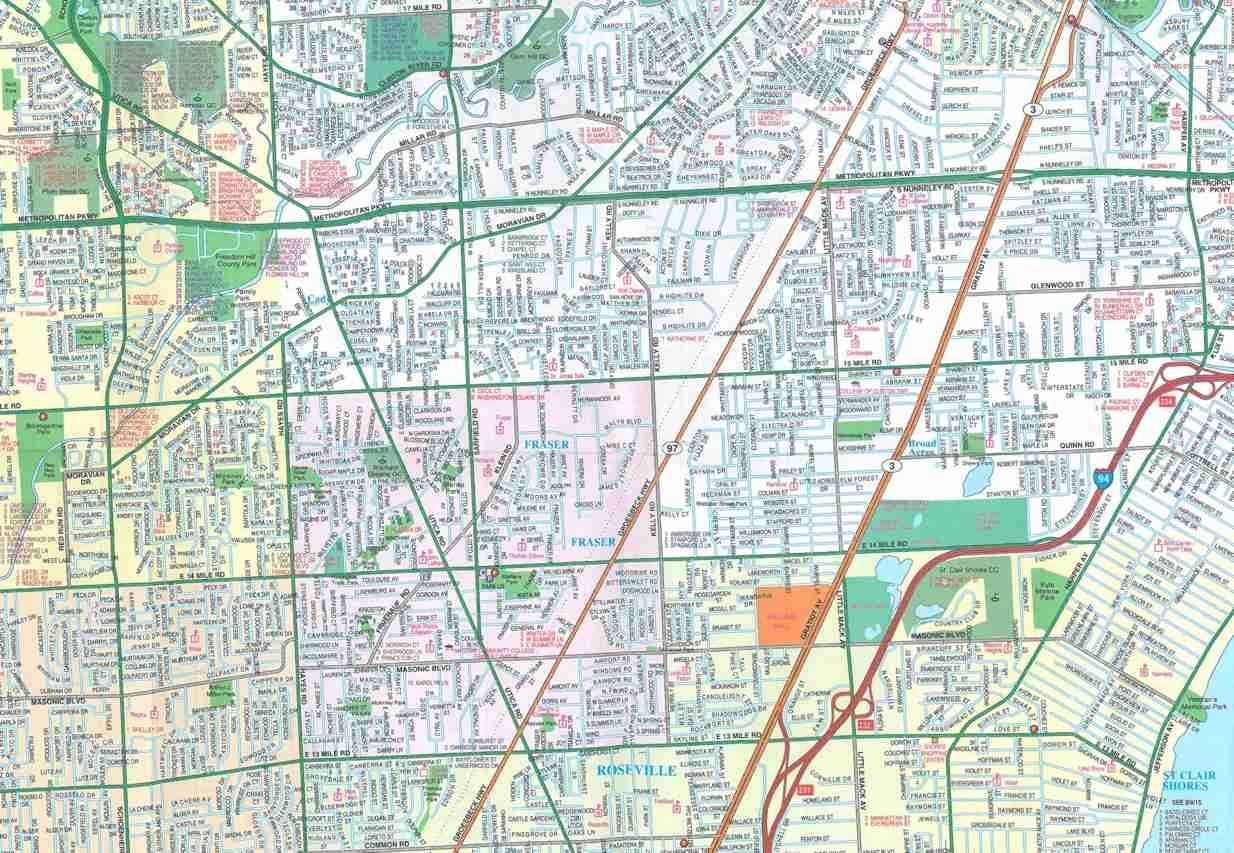themapstore macomb county michigan street map. Black Bedroom Furniture Sets. Home Design Ideas