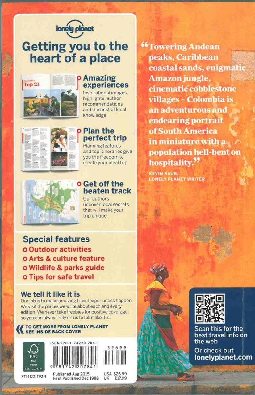 colombia travel guide lonely planet