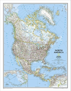 Picture of National Geographic North America Wall Map