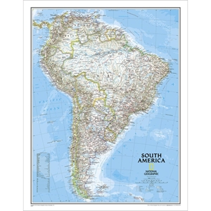 Picture of National Geographic South America Wall Map