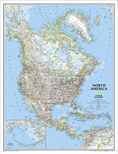 Picture of National Geographic North America Wall Map Enlarged