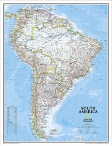 Picture of National Geographic South America Wall Map Enlarged